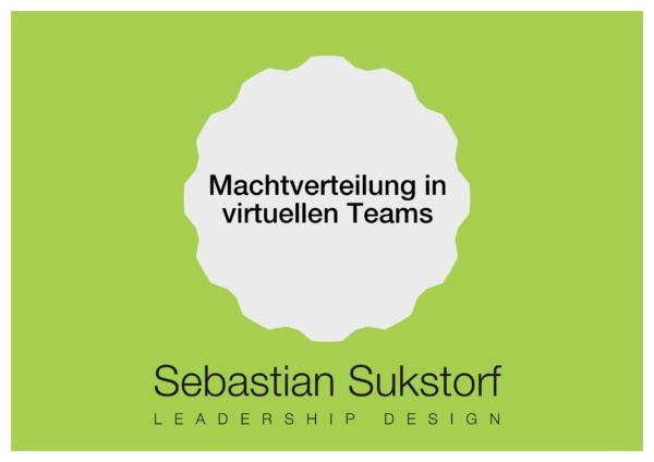 Machtverteilung in virtuellen Teams